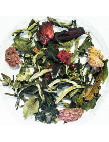 té blanco fruta del bosque